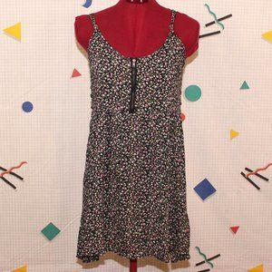Vexy black floral dress